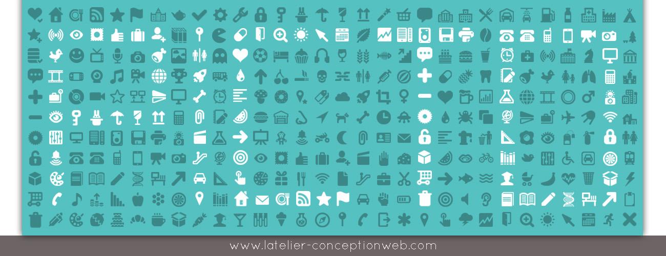 Le pictogramme en Agence Web