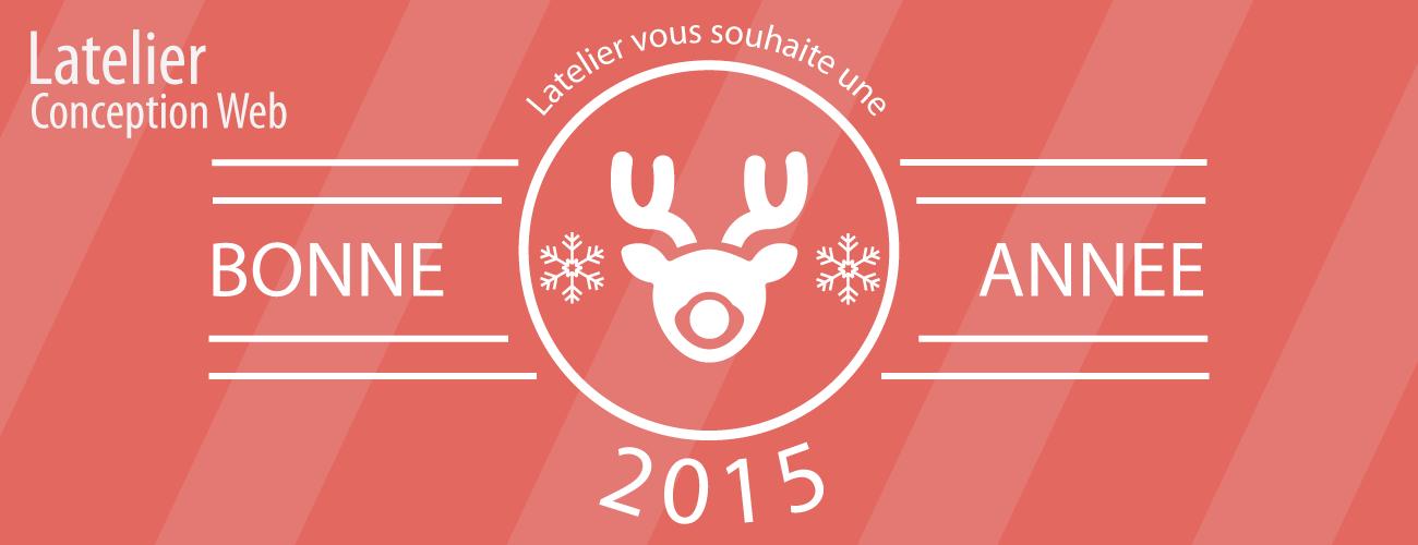 Carte de de voeux 2015 Latelier conception web