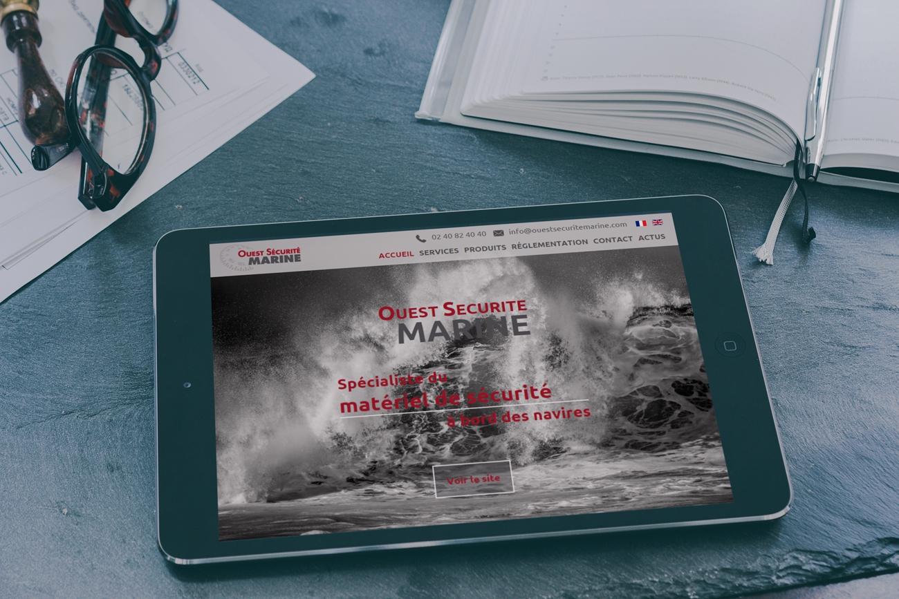 Nouveau site internet Ouest Sécurité Marine